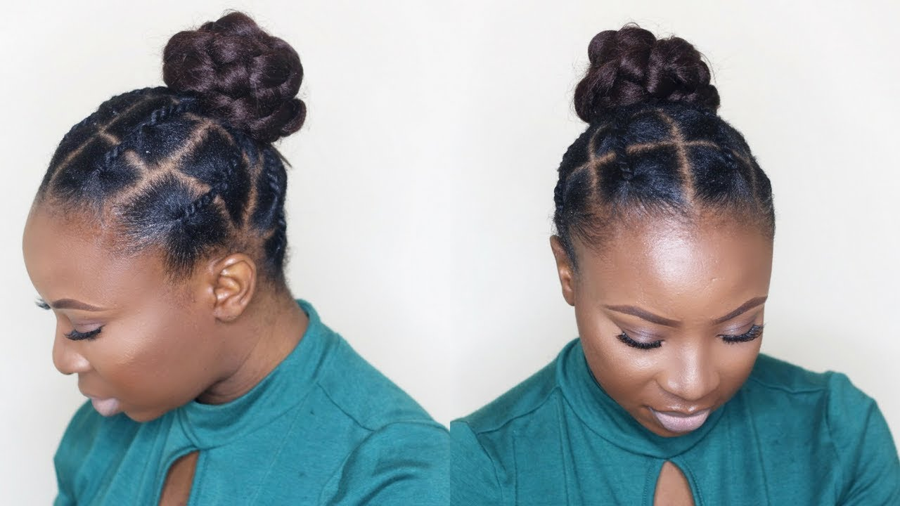 African Threading Updo On Short Natural Hair Tondie Phophi Youtube