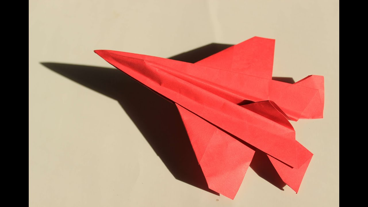 How to make a cool paper plane origami: instruction ... How To Make Cool Paper Airplanes