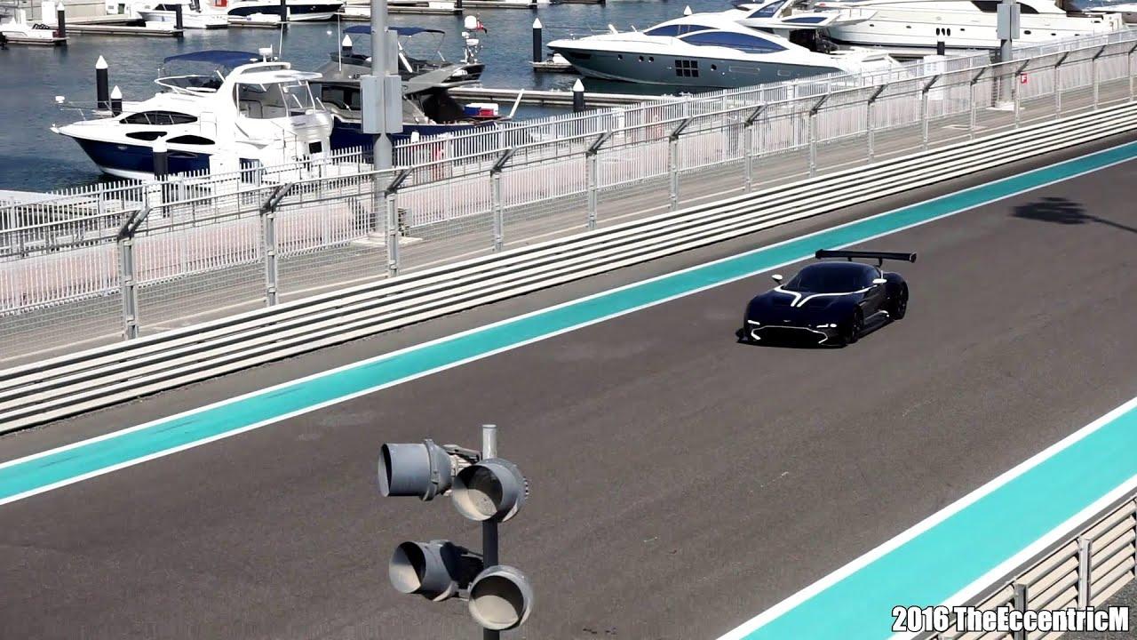 Three Aston Martin Vulcan Track Action At The Yas Marina Circuit Youtube