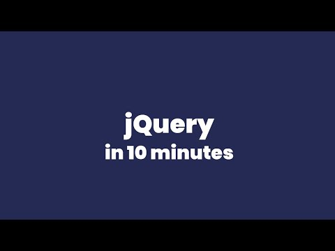 Learn jQuery in 10 Minutes | jQuery Tutorial thumbnail