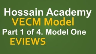 vecm model one part 1 of 4 eviews