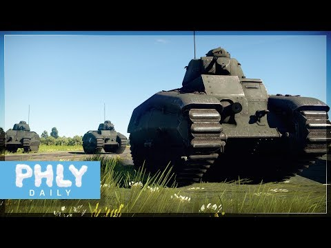 FRENCH LANDSHIP | Char B1ter Heavy Tank (War Thunder 1.75 Gameplay)