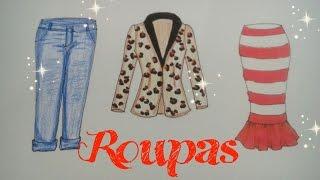 TUTORIAL- Como Desenhar Roupas 2 (Blazer, Jeans e Saia Midi)