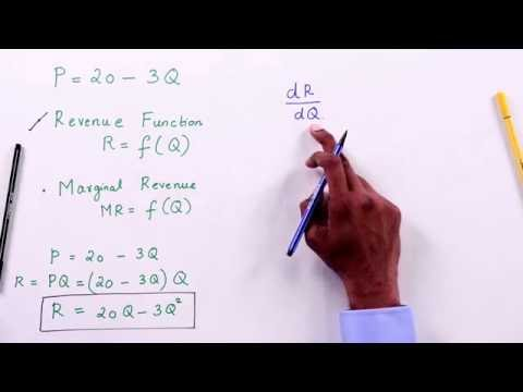 Revenue Function And Marginal Revenue