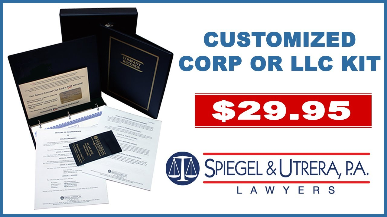 d2e9c368fb8ec Corporate Kit: Customized Company Records Book and Seal for $29.95
