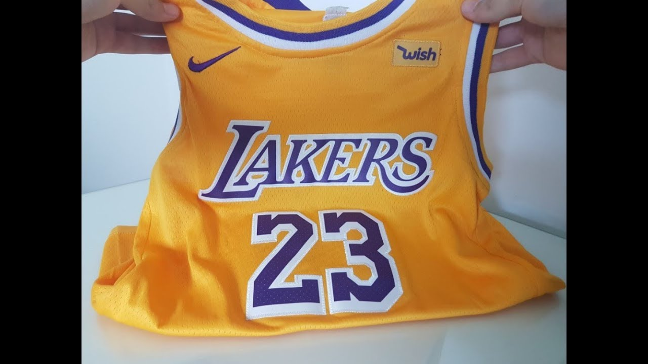 various colors e521c 9ca11 Los Angeles Lakers jersey 2018/19 Yellow - Unboxing