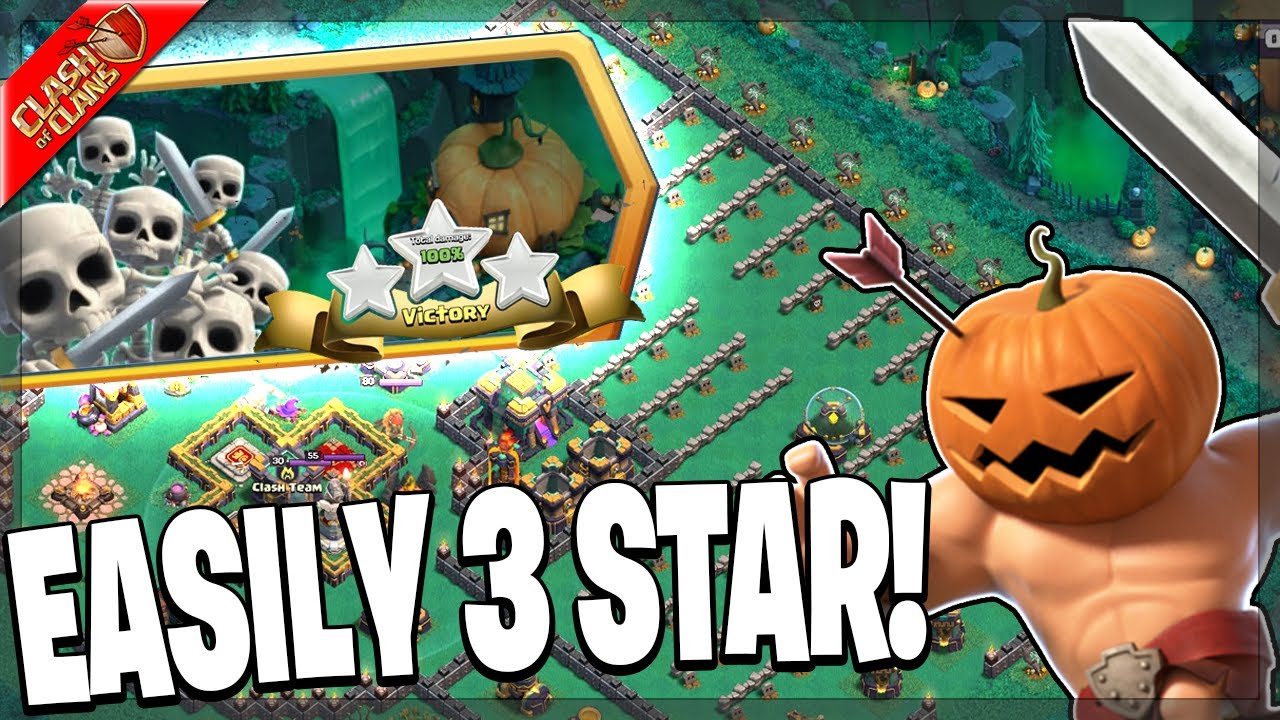 EASILY BEAT THE PUMPKIN GRAVEYARD CHALLENGE IN CLASH OF CLANS!