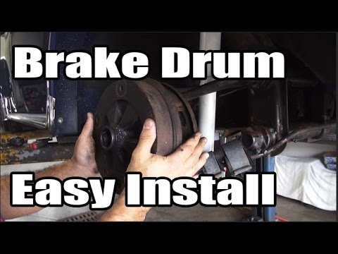 Classic VW BuGs How to Easy Install Tip Trick Brake Drum for Beetle Ghia Bus