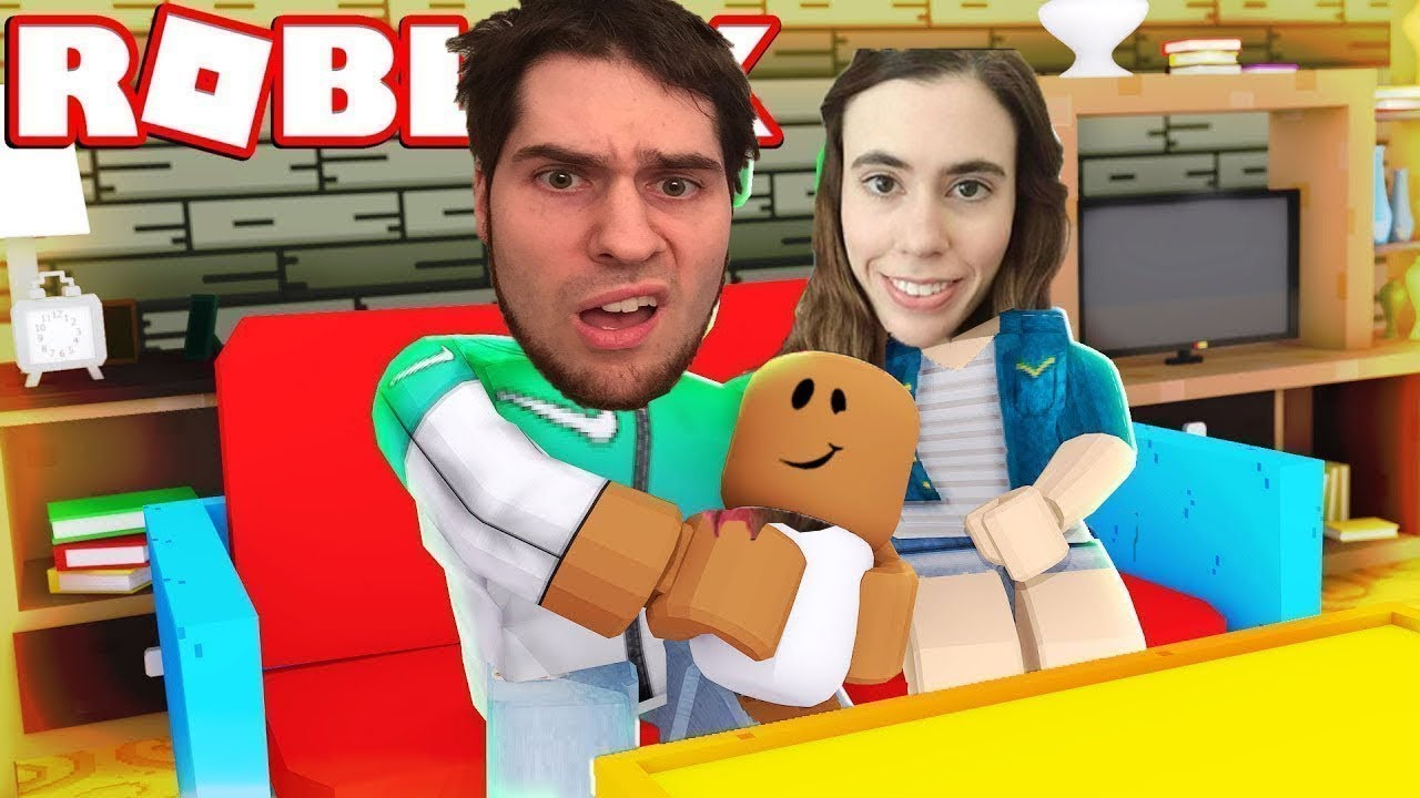 Pat And Jen Popularmmos Roblox Im A Baby Adopt Me Youtube