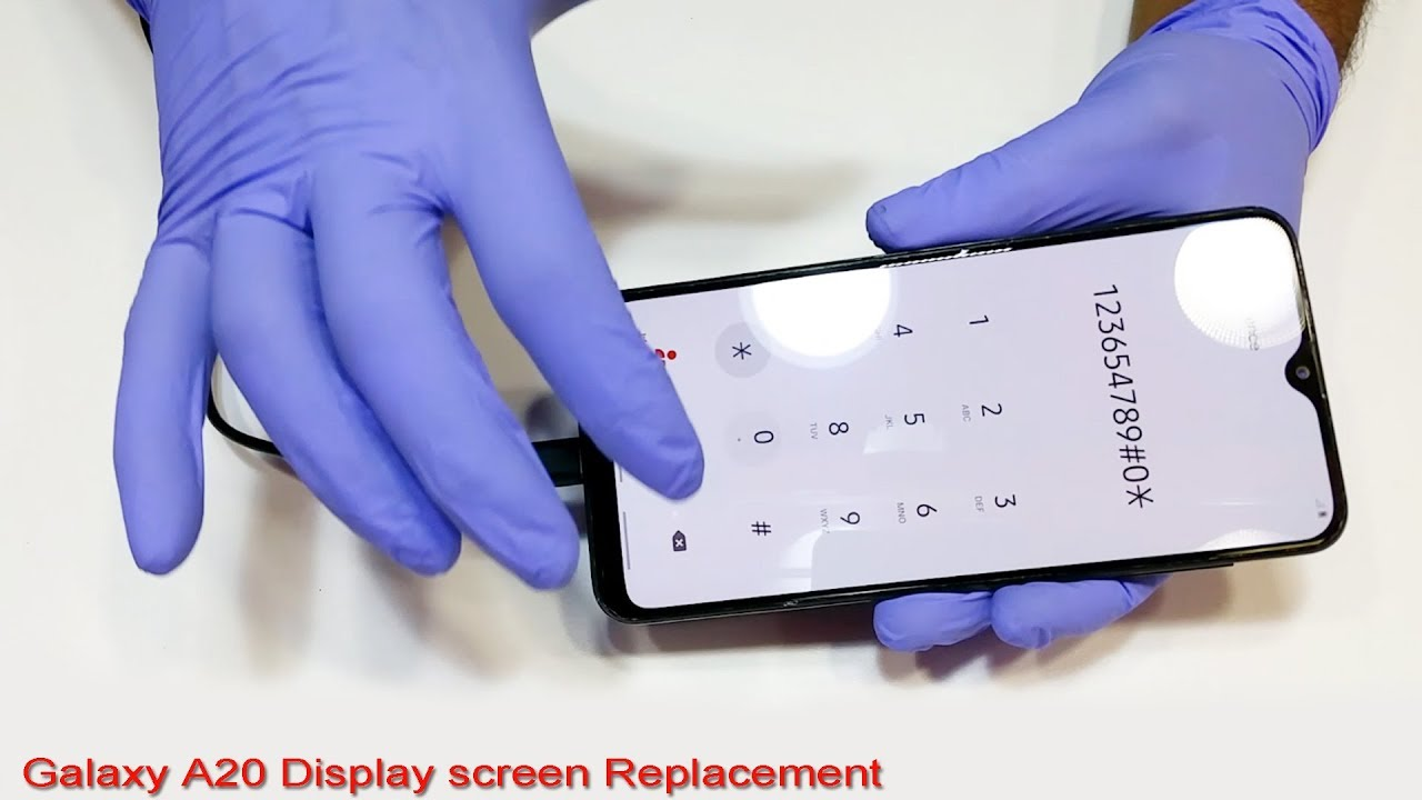 Samsung Galaxy A20 Display Screen Replacement Youtube