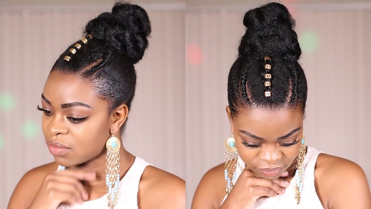 quick natural hair updo!!! (protective style****)