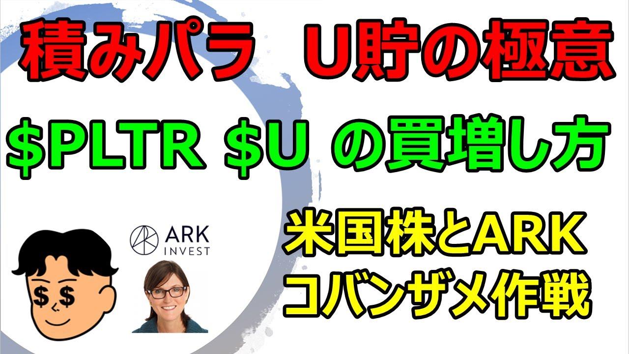 【米国株投資】$PLTR  (パランティア)、$U (ユニティ)の、地道な買い増し方の極意?をSQを紐解きながら説明します。ユニパラ族🔮必見!