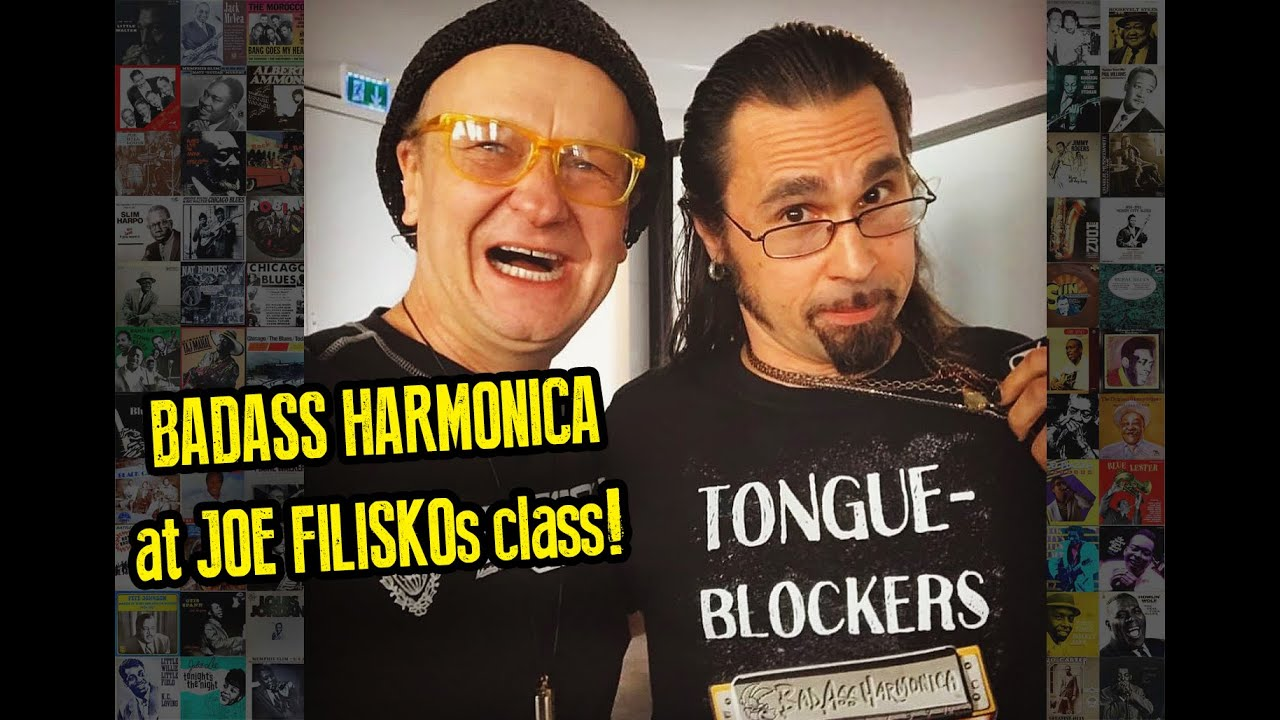 Blues Harmonica Class and Lesson - Joe Filisko class with Dennis Gruenling