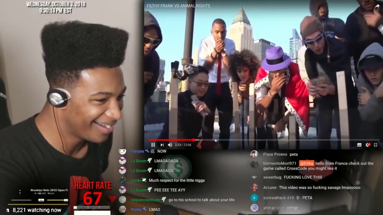 Etika Reacts to His Favorite Filthy Frank Video