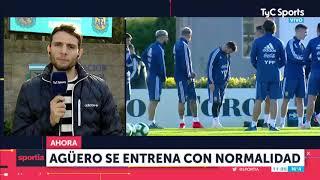 Agüero se entrena con normalidad con la Selección Argentina