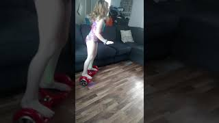 Little Girl Fails At Riding Hoverboard