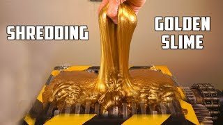 Shredding Huge Golden Slime Ball - Sound Is So Satisfying (ASMR)!