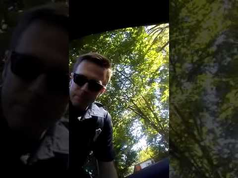 Atlanta cop gets aggravated with med student and walks away no ID no ticket