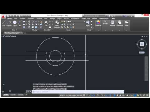 Learning Autodesk AutoCAD 2015 Trim And Extend Lines