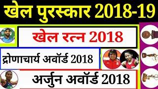 Khel Award 2018,rajiv gandhi,arjun purskar,dhyanchand,Khel Ratan winner List// खेल पुरस्कार 2018
