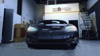 Gambar cover Tesla Color Change Vinyl Wrap by Revolution Wraps - Lincoln and Omaha's premier wrap shop