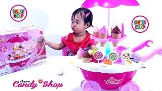 Ice Cream CANDY CART SWEET SHOP 💖 Gerobak Es Krim Mainan Anak 💖 Let's Play Jenica