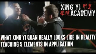 What Xing Yi Quan Really looks like in Reality: Teaching 5 Elements in Application