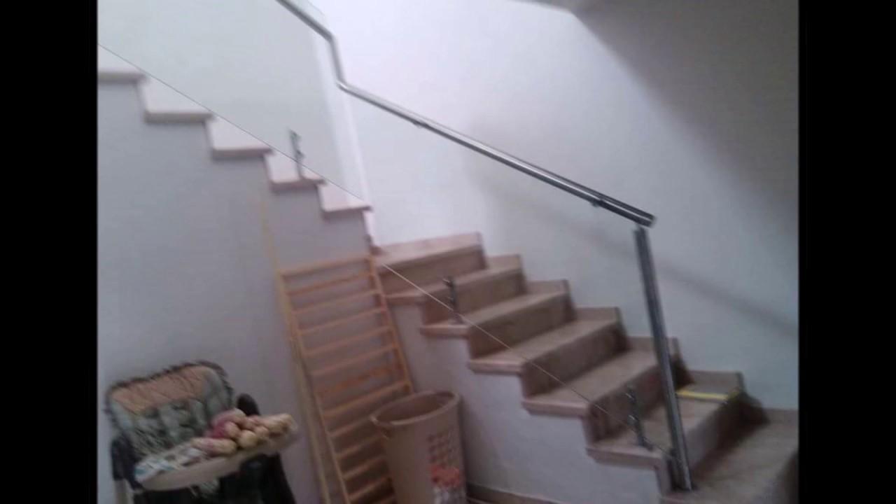 Barandales de cristal templado con herraje youtube - Barandales de escaleras ...