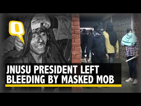 With A Bloody Face, JNUSU Prez Aishe Says Attacked By Masked Goons | The Quint