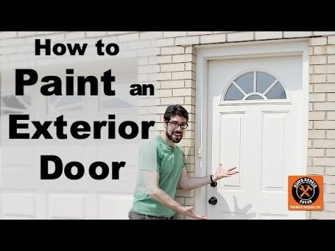 How To Paint An Exterior Door By Home Repair Tutor Youtube