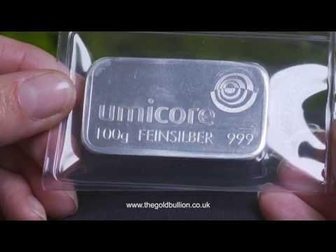 Umicore 100 gram Silver Bullion Bar