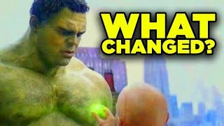 Avengers Endgame Hulk Scene CHANGED! Ancient One Reshoots Explained!