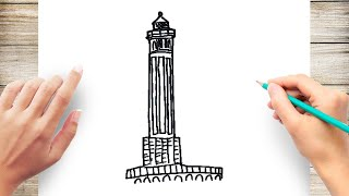 How to Draw Alcatraz Step by Step