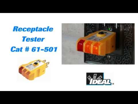IDEAL® 61-501 Receptacle Tester