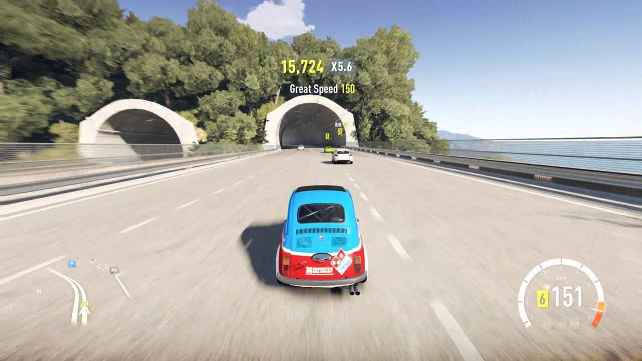 Forza Horizon 2 1968 Abarth 595 Esseesse Top Speed Run