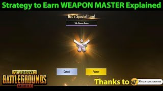 MORE EASILY Earn The WEAPON MASTER Achievement With This Strategy | PUBG Mobile