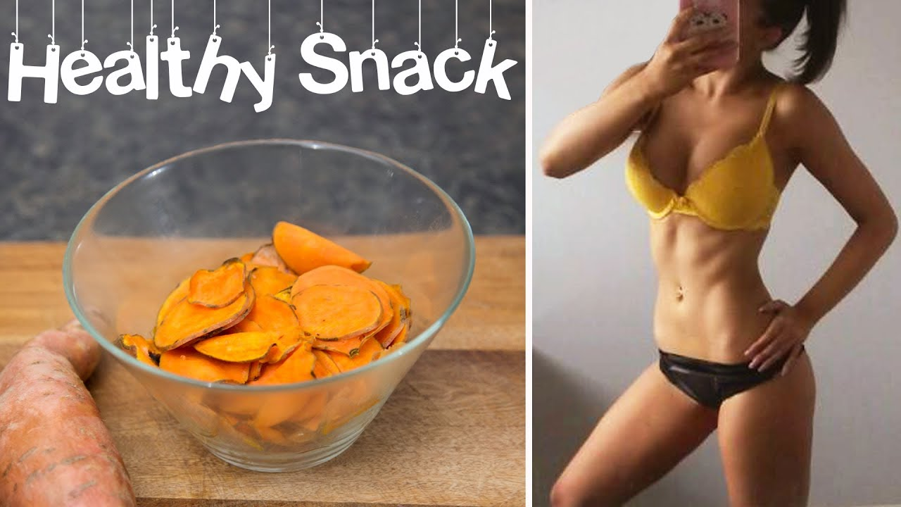 Weight loss healthy snack Sweet Potato Chip recipe - YouTube