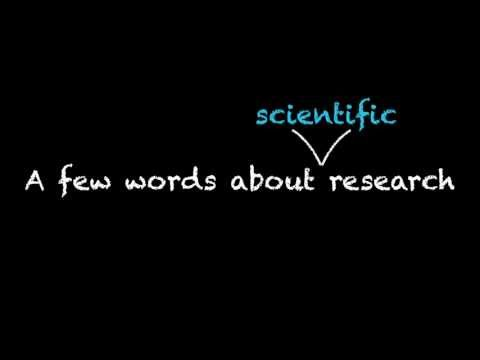 About Research: What is Scientific Research