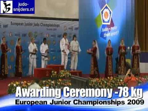 Judo 2009 Yerevan: Awarding Ceremony [-78kg]