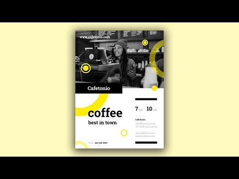 Bar, Café and Restaurant Poster - Poster Design in Photoshop Speed Art Tutorial #01 thumbnail