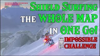 Shield Surfing the WHOLE MAP in ONE Go! Doing the IMPOSSIBLE CHALLENGE in Zelda Breath of the Wild