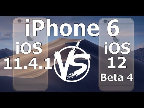 Speed Test : iPhone 6 - iOS 12 Beta 4 vs iOS 11.4.1 (iOS 12 Public Beta 3 Build 16A5327f)