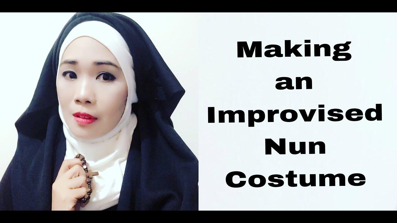 Making An Improvised Nun Costume Youtube