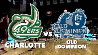 Charlotte 49ers vs Old Dominion Monarchs - Sunday 4pm on WCCB