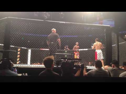 UFC Fight Night 57 Austin, One Of The Performance Of Night (took Video From 1st Row)