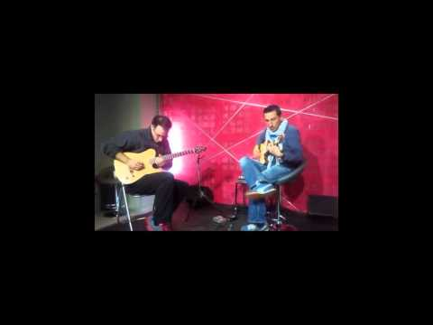 Jamming with a hand-crafted nylon electric guitar by Spyros Panourgias