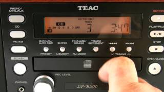 TEAC LP-R500 How to Use