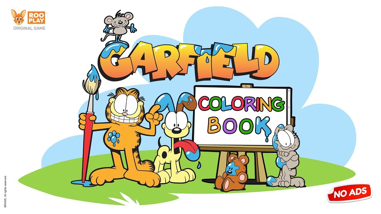garfield coloring game youtube