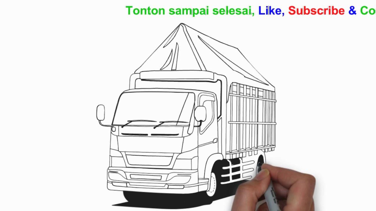 Cara Menggambar Mobil Truk Bak Terpal Samasaya Youtube