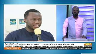 Ghana Card Use Wont 1st December deadline inconvenience government employees - Adom TV 13-10-21